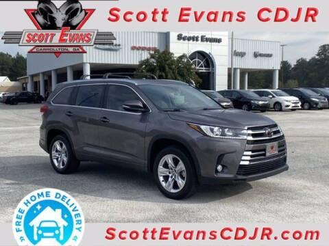2018 Toyota Highlander for sale at SCOTT EVANS CHRYSLER DODGE in Carrollton GA