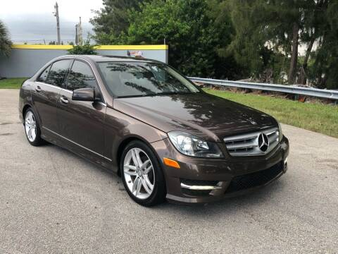 2013 Mercedes-Benz C-Class for sale at CAR UZD in Miami FL