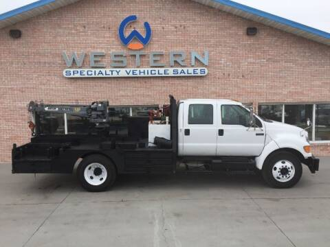 2007 Ford F650 Flatbed Crane for sale at Western Specialty Vehicle Sales in Braidwood IL