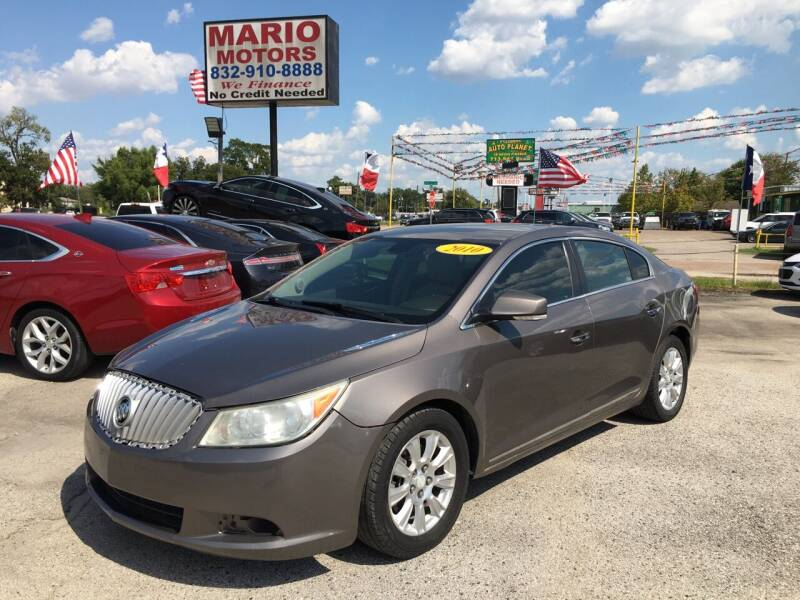 2012 Buick LaCrosse for sale at Mario Motors in South Houston TX