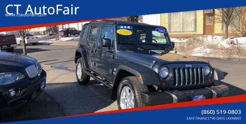 2008 Jeep Wrangler Unlimited for sale at CT AutoFair in West Hartford CT