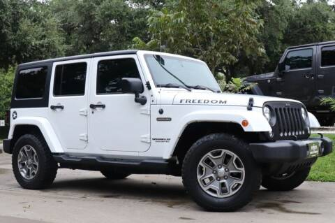 2017 Jeep Wrangler Unlimited for sale at SELECT JEEPS INC in League City TX