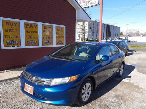 2012 Honda Civic for sale at Mack's Autoworld in Toledo OH