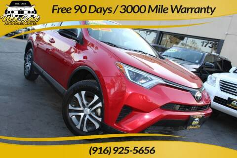 2017 Toyota RAV4 for sale at West Coast Auto Sales Center in Sacramento CA