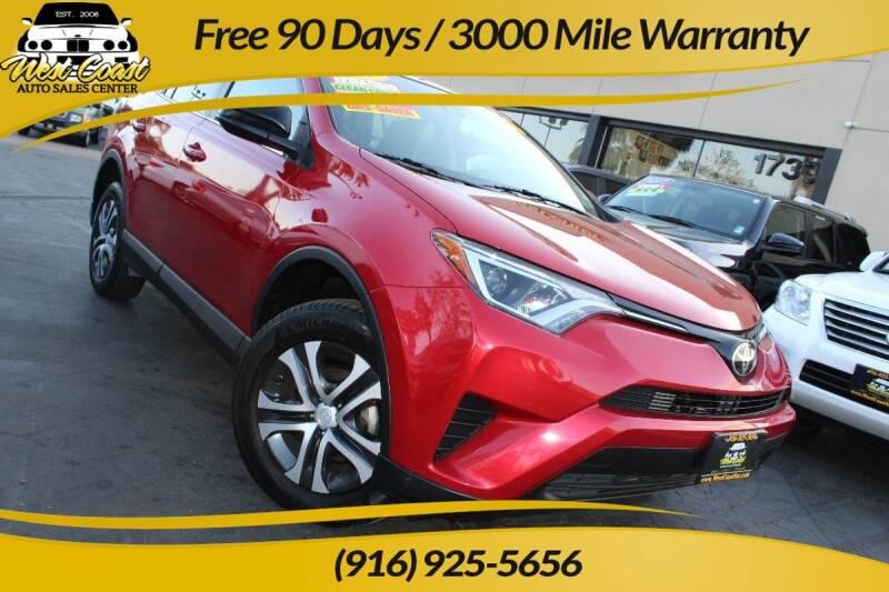 2017 Toyota RAV4 for sale at West Coast Auto Sales Center in Sacramento CA