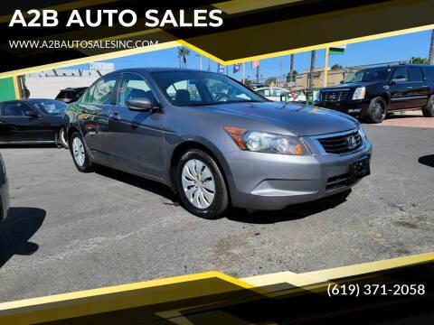 2008 Honda Accord for sale at A2B AUTO SALES in Chula Vista CA