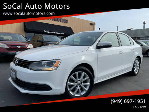 2012 Volkswagen Jetta for sale at SoCal Auto Motors in Costa Mesa CA