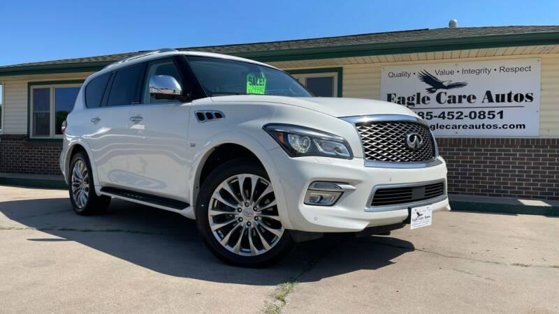 2015 Infiniti QX80 for sale at Eagle Care Autos in Mcpherson KS