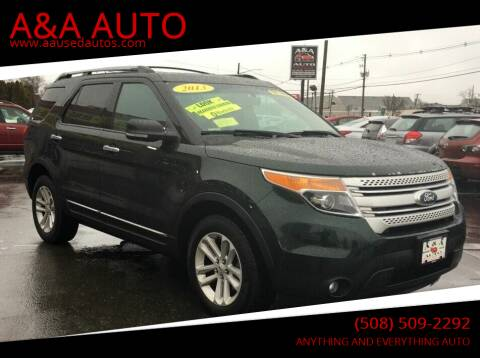 2013 Ford Explorer for sale at A&A AUTO in Fairhaven MA