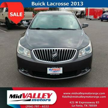 2013 Buick LaCrosse for sale at Mid Valley Motors in La Feria TX