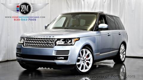 2013 Land Rover Range Rover for sale at ZONE MOTORS in Addison IL
