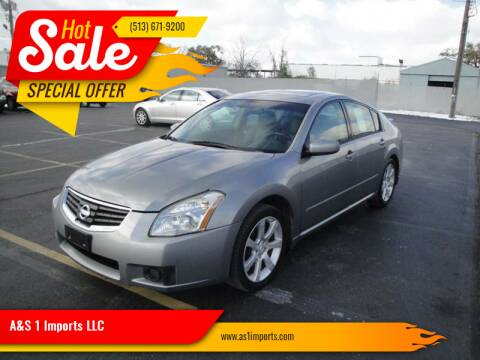 2007 Nissan Maxima for sale at A&S 1 Imports LLC in Cincinnati OH
