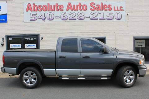 2004 Dodge Ram Pickup 1500 for sale at Absolute Auto Sales in Fredericksburg VA