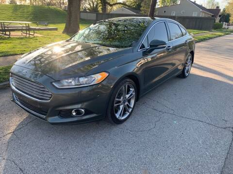 2015 Ford Fusion for sale at Eddie's Auto Sales in Jeffersonville IN