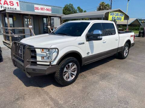 2015 Ford F-150 for sale at Texas 1 Auto Finance in Kemah TX