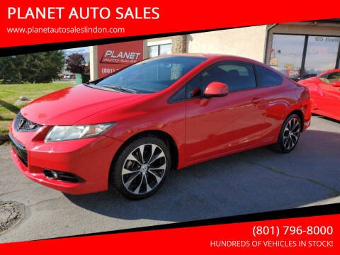 2013 Honda Civic for sale at PLANET AUTO SALES in Lindon UT