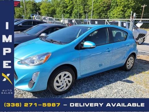 2016 Toyota Prius c for sale at Impex Auto Sales in Greensboro NC