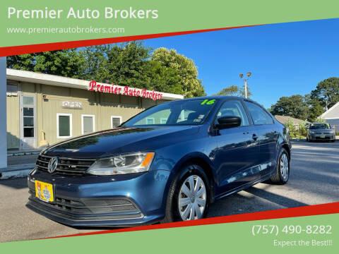 2016 Volkswagen Jetta for sale at Premier Auto Brokers in Virginia Beach VA