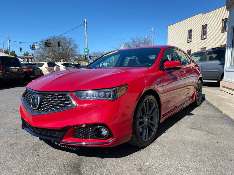 2018 Acura TLX for sale at ADAM AUTO AGENCY in Rensselaer NY