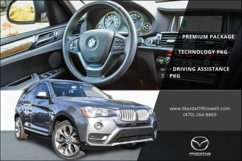 2015 BMW X3 for sale at Mazda Of Roswell in Roswell GA