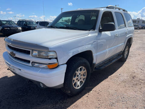 2003 Chevrolet Tahoe for sale at PYRAMID MOTORS - Fountain Lot in Fountain CO