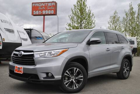 2016 Toyota Highlander for sale at Frontier Auto & RV Sales in Anchorage AK