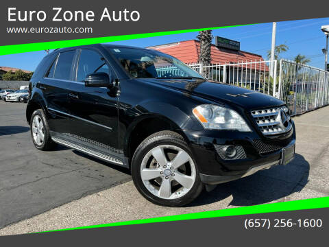 2011 Mercedes-Benz M-Class for sale at Euro Zone Auto in Stanton CA