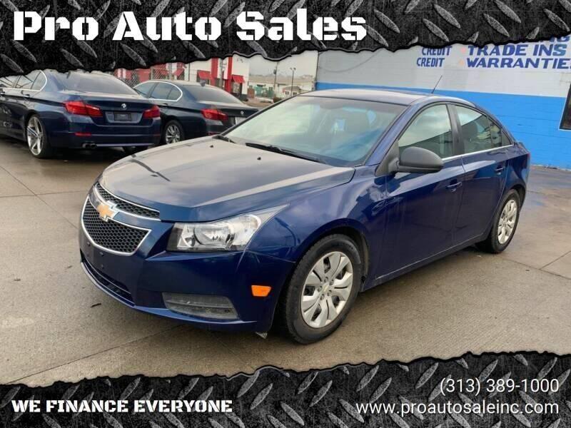 2012 Chevrolet Cruze for sale at Pro Auto Sales in Lincoln Park MI