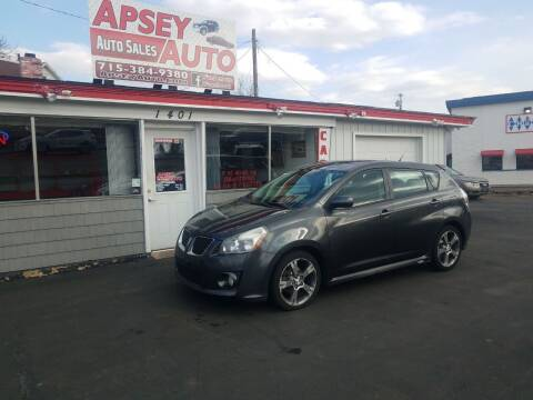 2009 Pontiac Vibe for sale at Apsey Auto 2 in Marshfield WI