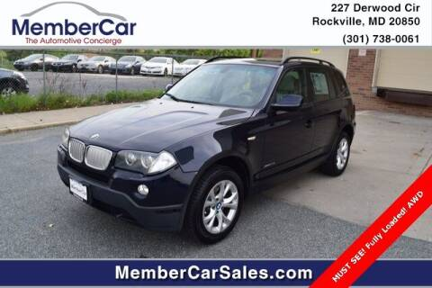 2010 BMW X3 for sale at MemberCar in Rockville MD