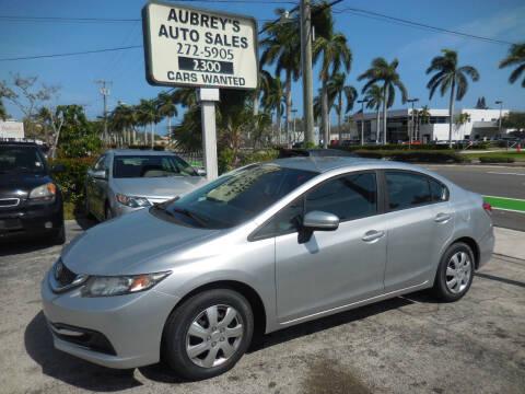 2014 Honda Civic for sale at Aubrey's Auto Sales in Delray Beach FL