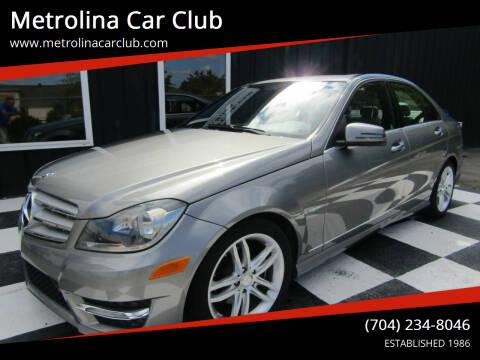 2012 Mercedes-Benz C-Class for sale at Metrolina Car Club in Matthews NC