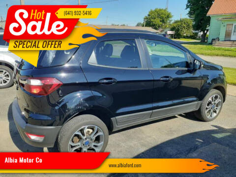 2019 Ford EcoSport for sale at Albia Motor Co in Albia IA
