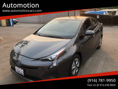 2016 Toyota Prius for sale at Automotion in Roseville CA