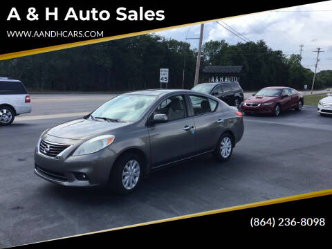 2012 Nissan Versa for sale at A & H Auto Sales in Greenville SC