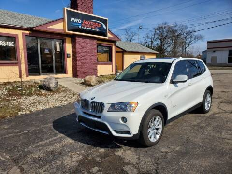 2013 BMW X3 for sale at Pro Motors in Fairfield OH