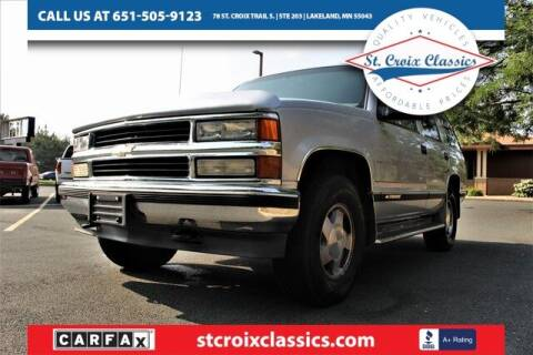 1997 Chevrolet Tahoe for sale at St. Croix Classics in Lakeland MN