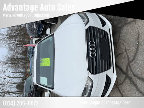 2013 Audi A4 for sale at Advantage Auto Sales in Johnstown PA