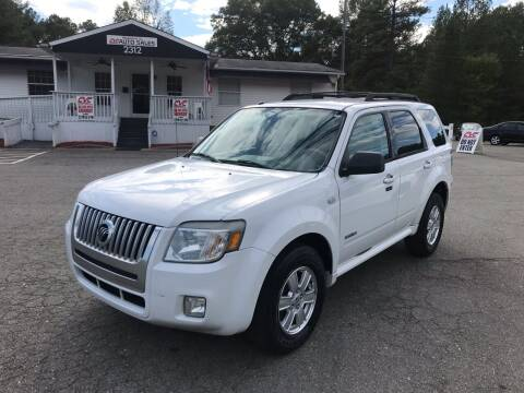 2008 Mercury Mariner for sale at CVC AUTO SALES in Durham NC