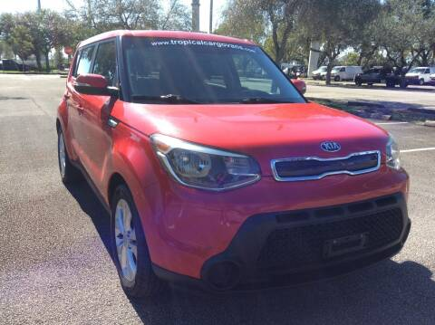 2014 Kia Soul for sale at Tropical Motors Cargo Vans and Car Sales Inc. in Pompano Beach FL