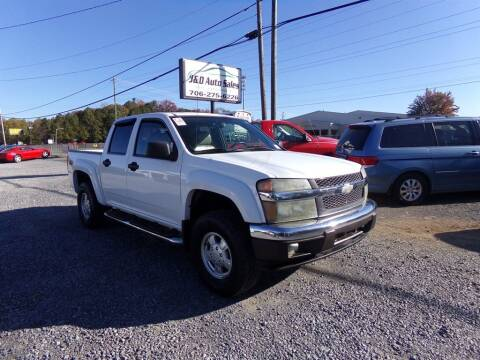 2005 Chevrolet Colorado for sale at J & D Auto Sales in Dalton GA