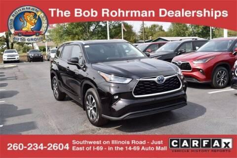 2021 Toyota Highlander Hybrid for sale at BOB ROHRMAN FORT WAYNE TOYOTA in Fort Wayne IN