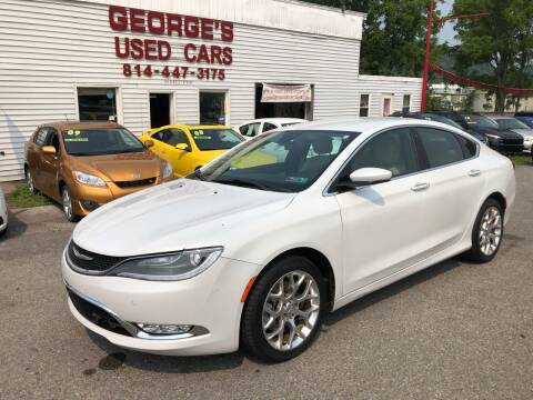 2015 Chrysler 200 for sale at George's Used Cars Inc in Orbisonia PA