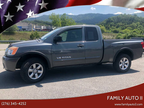 2011 Nissan Titan for sale at FAMILY AUTO II in Pounding Mill VA