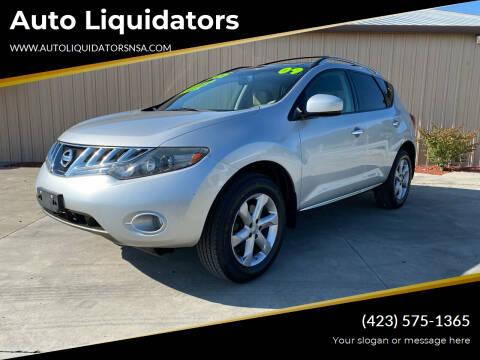2009 Nissan Murano for sale at Auto Liquidators in Bluff City TN