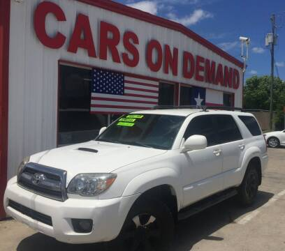 2006 Toyota 4Runner for sale at Cars On Demand 3 in Pasadena TX