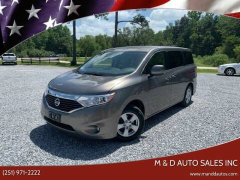 2015 Nissan Quest for sale at M & D Auto Sales Inc in Foley AL