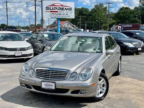 2006 Mercedes-Benz E-Class for sale at Supreme Auto Sales in Chesapeake VA