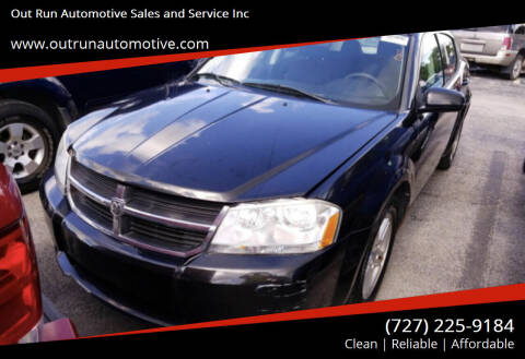 2010 Dodge Avenger for sale at Out Run Automotive Sales and Service Inc in Tampa FL