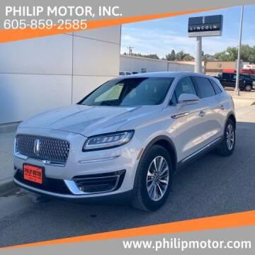 2019 Lincoln Nautilus for sale at Philip Motor Inc in Philip SD
